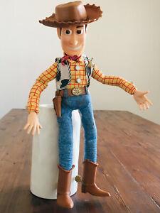 "DISNEY Pixar Toy Story WOODY Pull-String Talking 15"" Doll Thinkway Toys"