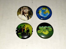 Yes Band 4 1 Inch Buttons NEW Chris Squire Fragile Album Logo