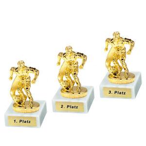 3 Fussball-Pokale (Spieler) mit 1.2.und 3.Platz oder Wunschgravur (P0043)