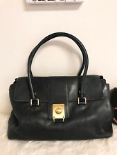 Tod's Tods Pebble Softest Leather Satchel Tote Bag Goldtone Hardwre