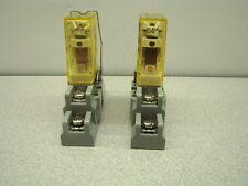 IDEC RH1B-U Relay, 24V, W/Base SH1B-05, QTY OF 2
