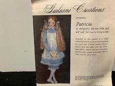 "Giuliani Creations Pattern For 4'8"" Doll Patricia Has Material Painted Face"