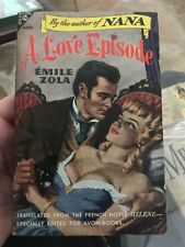 A LOVE EPISODE by Emile Zola, Avon Book 150 Gga Sleaze Paperback Collectible