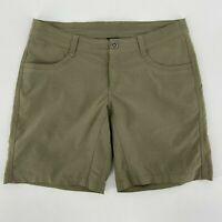 Kuhl Green Khaki Nylon Blend Shorts Womens 6