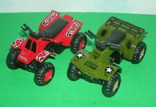 Two 1/27 Scale Four Wheeler Diecast Model ATV Quad Off-Road 4x4 Toys - Maisto