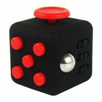 Fidget Cube Jeux Jouet Gadget Anti-stress pour Enfants et Adultes NOIR & ROUGE