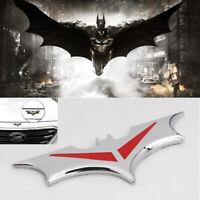 New Style 3D Metal Sliver Bat Batman Badge Car Emblem decoration