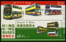 China Hong Kong 2013' Bus stamps Souvenir Sheet MNH OG