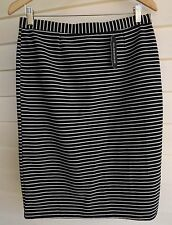 BNWT Glassons Women's Black & White Stripe Skirt - Size 12