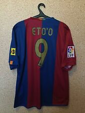 BARCELONA SPAIN 2006/2007 HOME FOOTBALL SHIRT JERSEY CAMISETA MAGLIA #9 ETO`O
