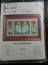 ART STITCH Counted Cross Stitch Kit - Antique Stained Glass Panel AS-160