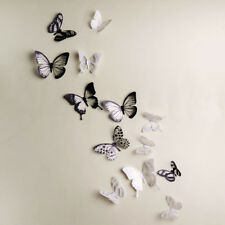 18Pcs Bedroom Glowing Butterfly Sticker Home Decoration PVC Art Wall Decal Mural