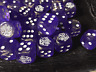 D6 Runic Candle and Open Hands Purple - Customized Six-Sided Dice