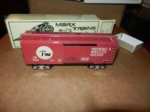 MARX  P&WRR Box Car,  TCA 1998 Convention,  New Production,  OB, 8 Wheel