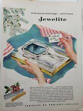 Vintage 1946 Jewelite Brush Print Ad Ephemera Wall Art Decor by Carl Broemel