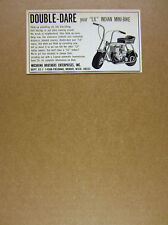 1968 Lil Indian Mini-Bike minibike photo Michrina Brothers vintage print Ad