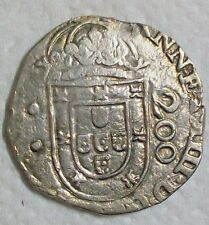 ND (1663) BRAZIL ALFONSO VI OF PORTUGAL COUNTERSTAMPED 250 REIS L@@K