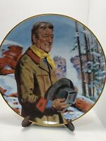 Franklin Mint John Wayne Pine Ridge Plate With Stand by Robert Tanenbaum 8 inch