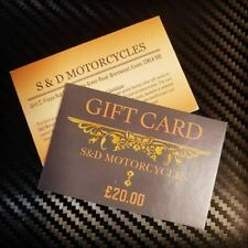 S&D Motorcycles Gift Card, Ideal Gift for the Enthusiastic Biker.