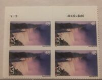 Niagara Falls Block Of Four United States Postage Stamps
