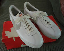 Amazing Vintage NEW *NIKE* White on White Leather Bruin Sneakers 1979 Collectors