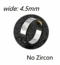 Stainless Steel Ring S Fashion Rose Gold Men With Stone Zircon 6mm In Wedding