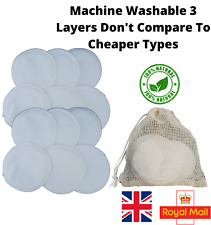 Reusable Makeup Remover Cotton Pads Washable Bamboo Facial Wipes With Wash Bag
