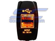 Polaris RZR Orange Rocker Switch UTV ATV 900 800 RZR4 Crew XP 1000 Ranger 900 LE