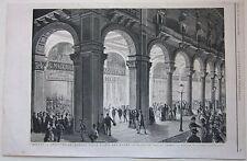 1874 MILANO APERTURA PORTICI PIAZZA DUOMO xilografia Illustrazione Universale