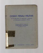 codici penali militari - vincenzo manzini - 1943