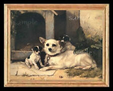 Mother Dog & Puppies Miniature Dollhouse  Picture