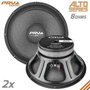 """2x PRV Audio 12W800A Midrange ALTO Car Audio 12"""" Woofer Speakers 8 Ohms PRO 800W"""