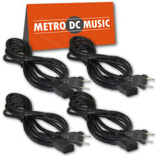4-Pack 8 ft Power Cord IEC C9 to NEMA 1-15P for Vintage Hi Fi Audio 2 Prong NEW