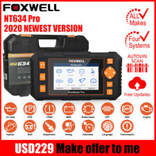 Foxwell NT634 OBD2 Scanner Engine ABS SRS Transmission Special Reset Function