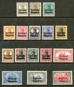GERMANY-1919  -BAVARIA-BAYERN SC # 176-191,-MNH (  2 )