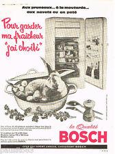 PUBLICITE ADVERTISING 085  1961   BOSCH réfrigérateur