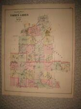 ANTIQUE 1887 HANCOCK WASHINGTON COUNTY MAINE TIMBER LAND HANDCOLORED MAP RARE NR