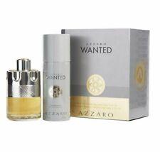 Azzaro Wanted 3.4 oz EDT spray+ 5.1 oz deo Mens Set NIB