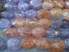 Multi Candy Quartz Beads Faceted Nuggets 23pcs