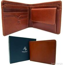 Visconti Bifold Wallet Real Leather Tan Top Quality New in Gift Box VCN19