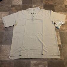 Columbia Men's Bonefish Authentic Fit Beige Polo Shirt Medium Short Sleeve NWT