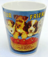 Sakura Tabel Trendz Four Friends Tomato Fruit Label Graphic Puppy Dog Mug Cup
