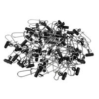 50pcs Heavy Duty High-strength Fishing Sinker Slide Connector with Snap