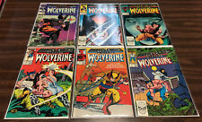 WOLVERINE ISSUES #1, 2, 3, 4, 5, 6 - MARVEL COMICS PRESENTS - NICE SET