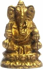 Unique Collection Gold Finish Pure Solid Brass Idol Ganesha Hindu God Of Wealth