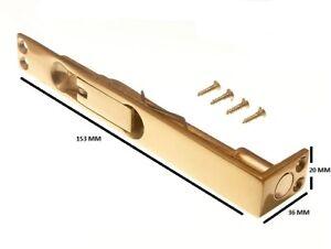 Flush Bolt Slide Lever Action Lock 150MM 6 Inch Solid Brass