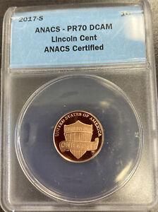 2017 S Lincoln Cent PR70 DCAM ANACS