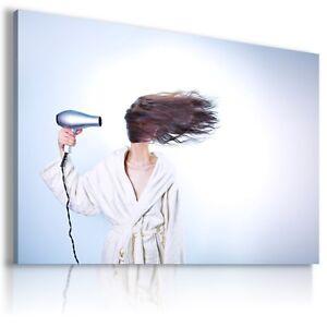 WOMAN HAIR HAIRDRESSER Abstract Modern Canvas Wall Art Picture BA32 MATAGA