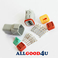 1sets - 6 Pin Waterproof Electrical Wire Connector Plug Auto DT06-6S AND DT04-6P