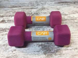 CAP Neoprene Dumbbell 5LB Weights - 10 lbs TOTAL -  Set of 2